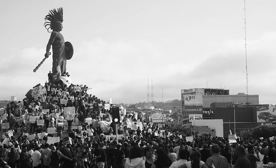Protests in Tijuana, Mexico, against the new president, Photo Credits  UrielReyes
